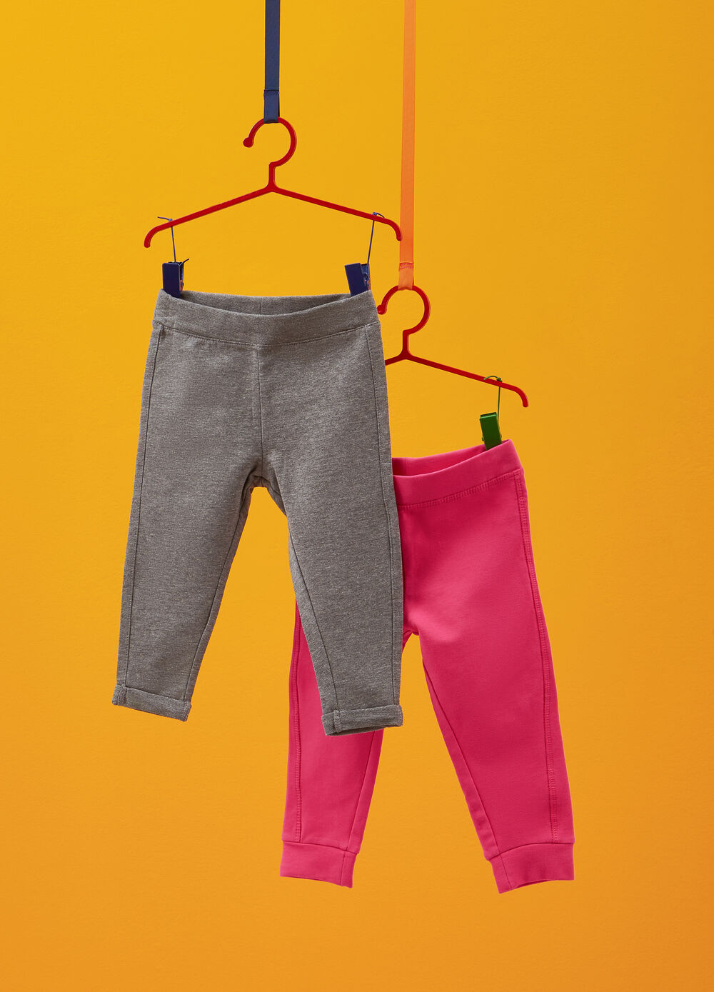 Two-pack stretch cotton trousers