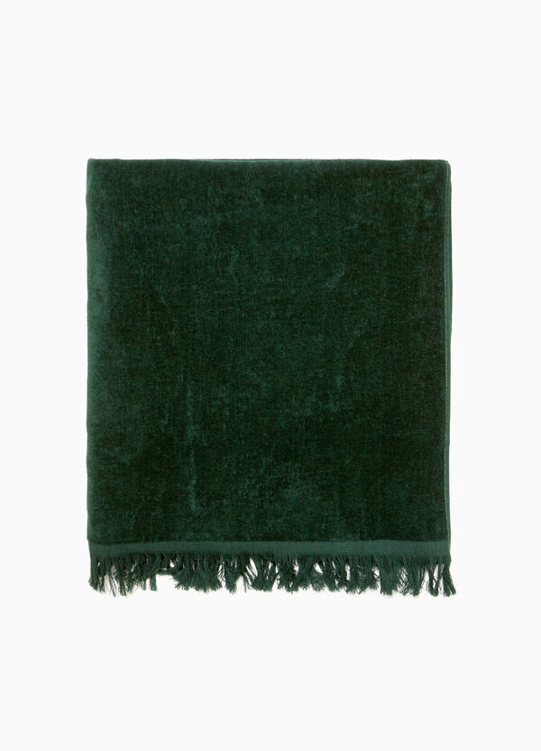 Solid colour beach towel in cotton