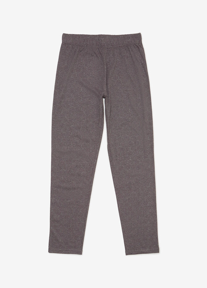 Pyjamas with trousers and printed pocket