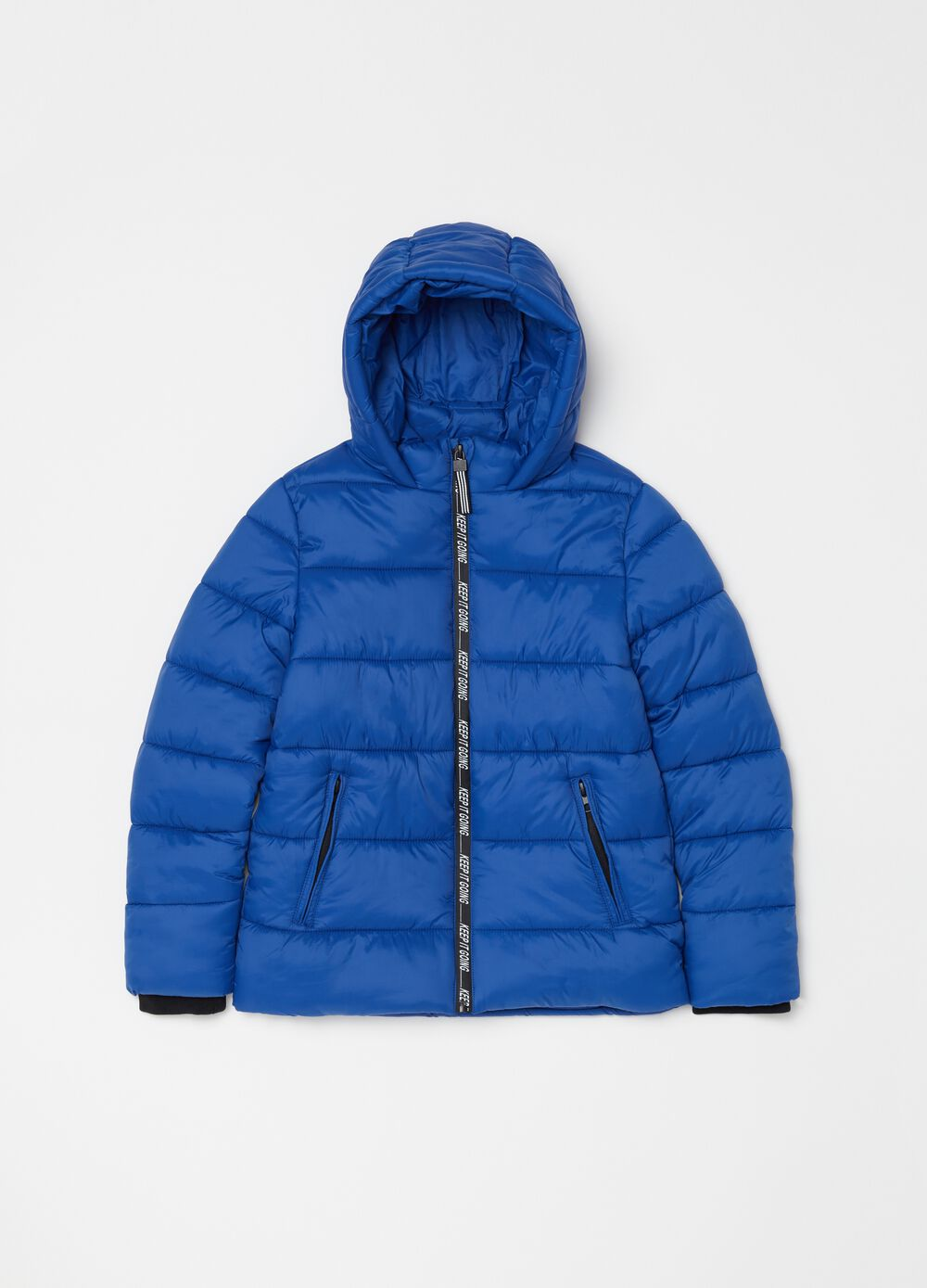 Padded jacket with fleece and zipper
