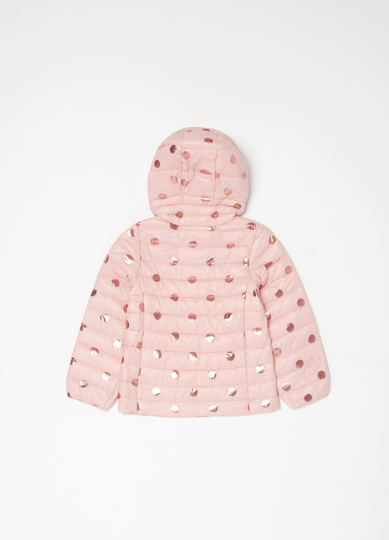 Lightweight padded jacket with macro polka dots image number null