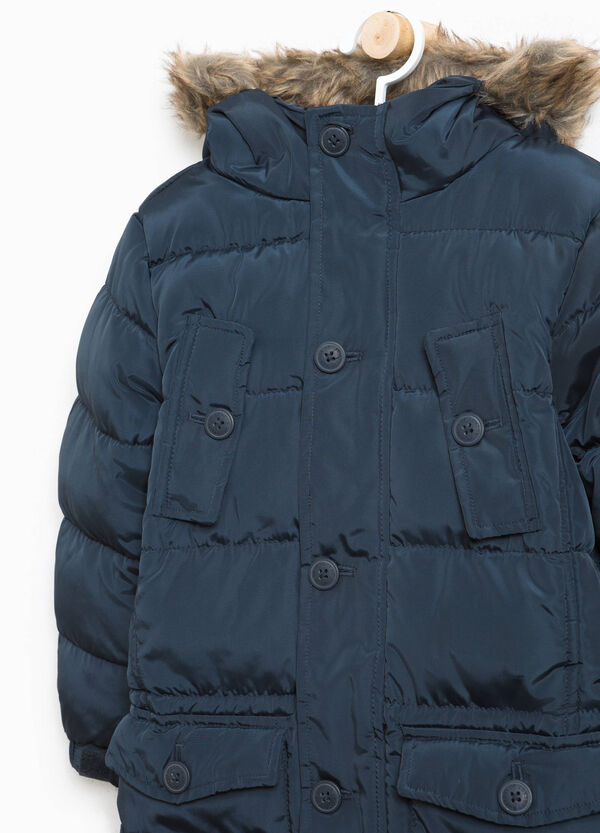 Long jacket with fur | OVS