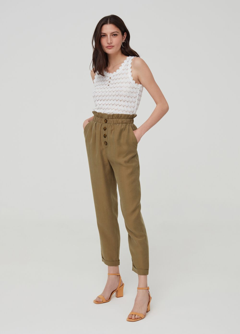 Trousers in Lyocell with pockets