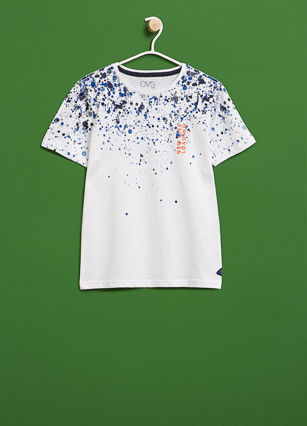 T-shirt with coloured splashes print | OVS