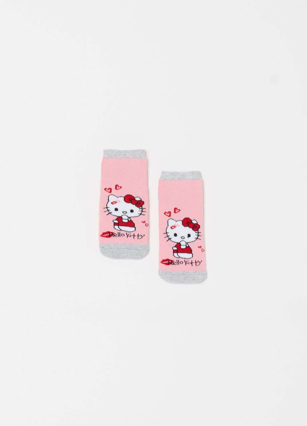 Hello Kitty embroidered slipper socks