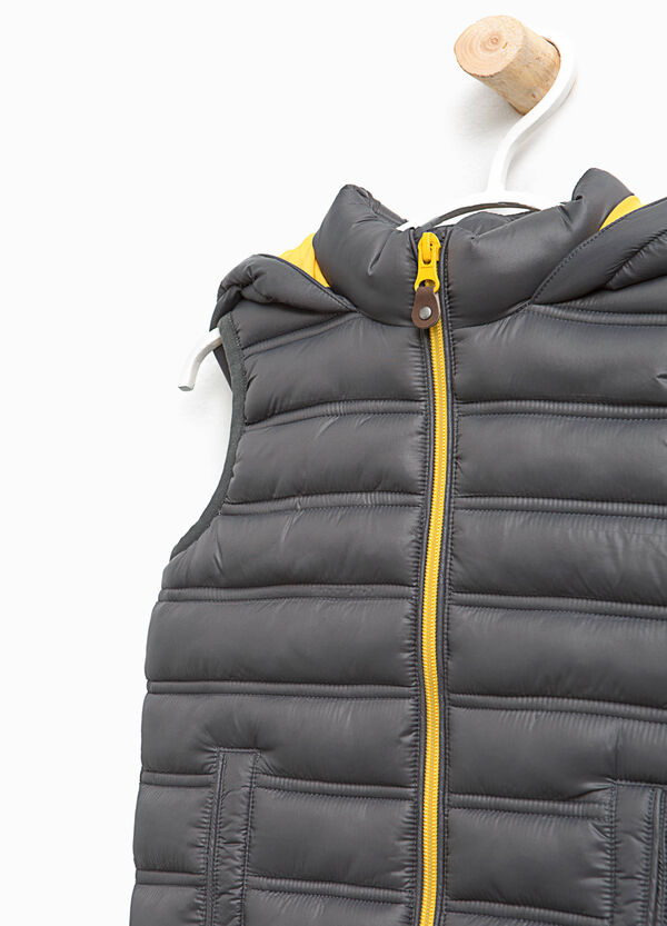 Padded gilet with hood | OVS