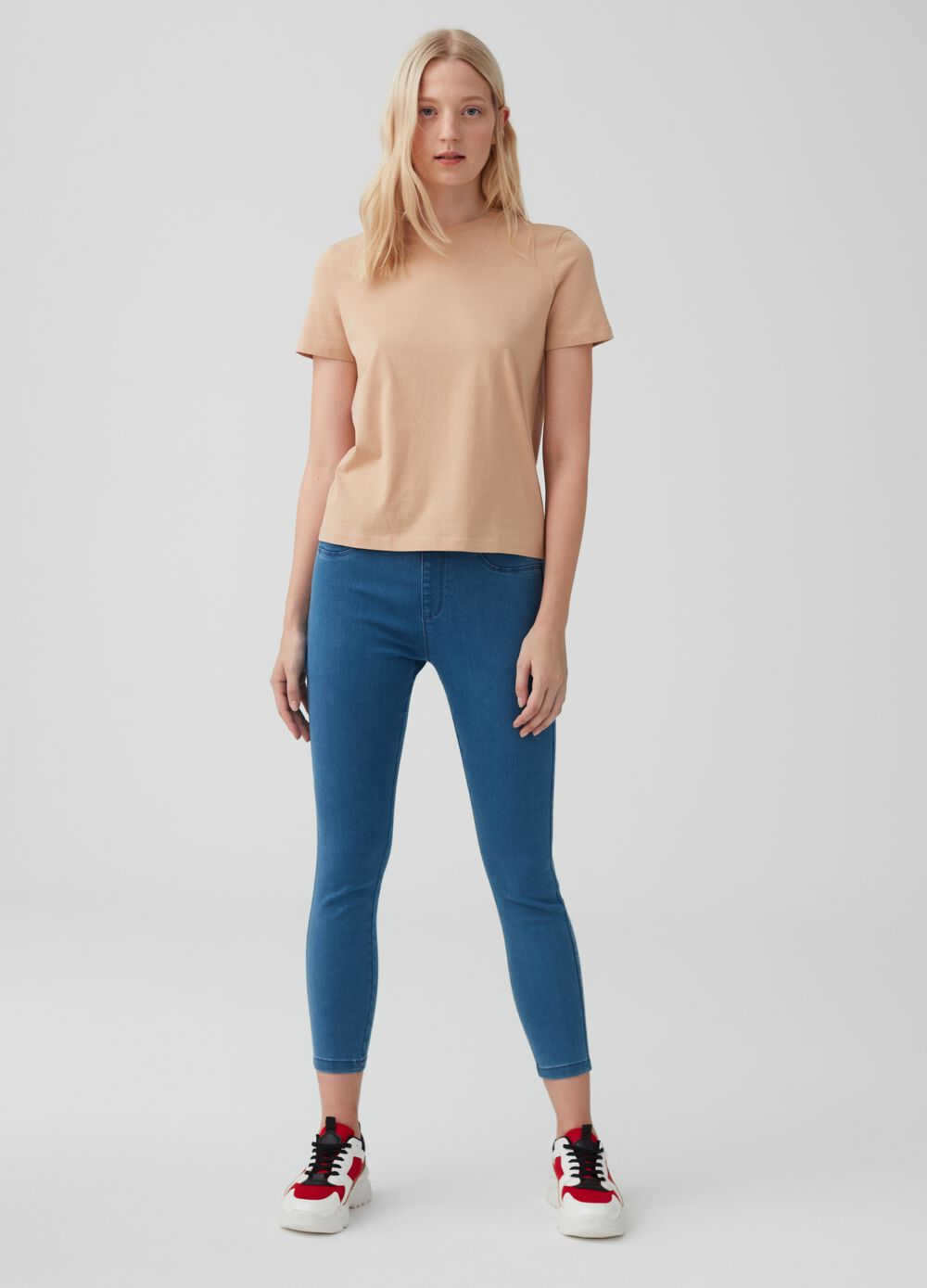 Power stretch denim jeggings