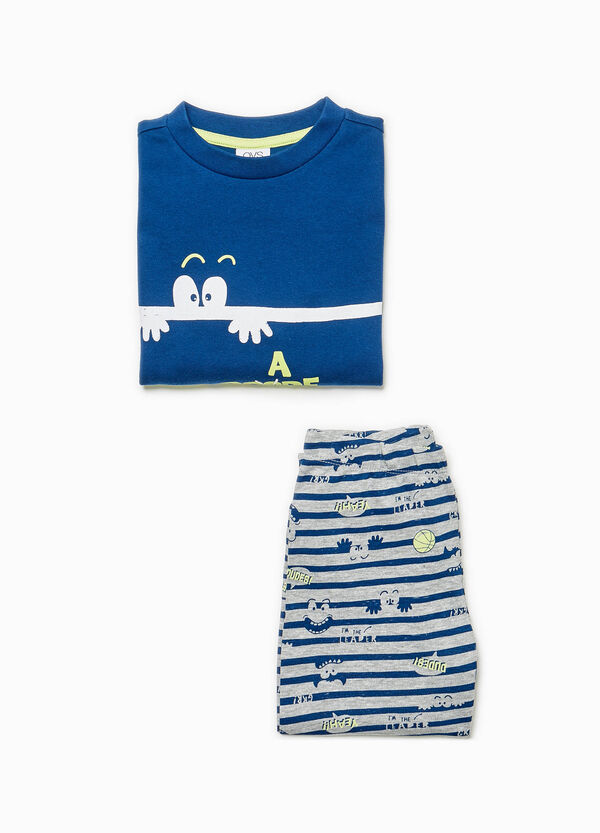 Stripe and monster cotton pyjamas