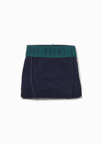Organic cotton boxers with lettering print