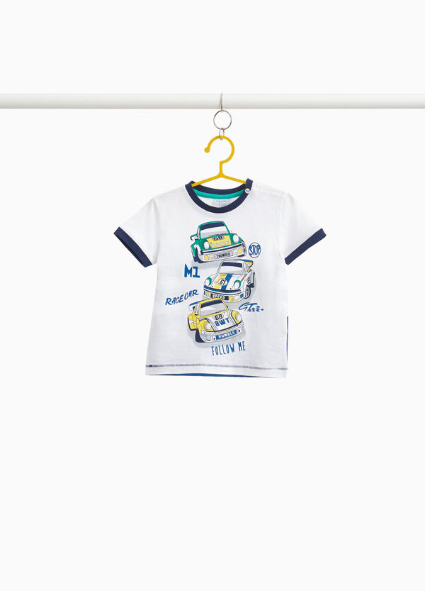 T-shirt with coloured splashes print