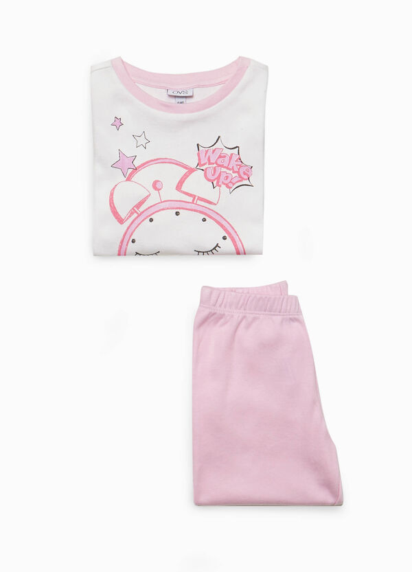 100% cotton pyjamas with watch print