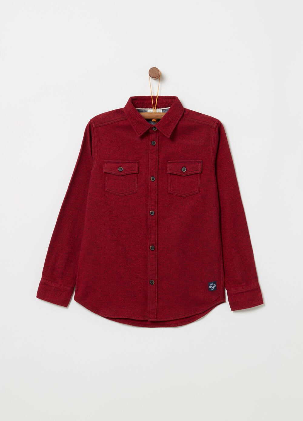 100% cotton flannel shirt.