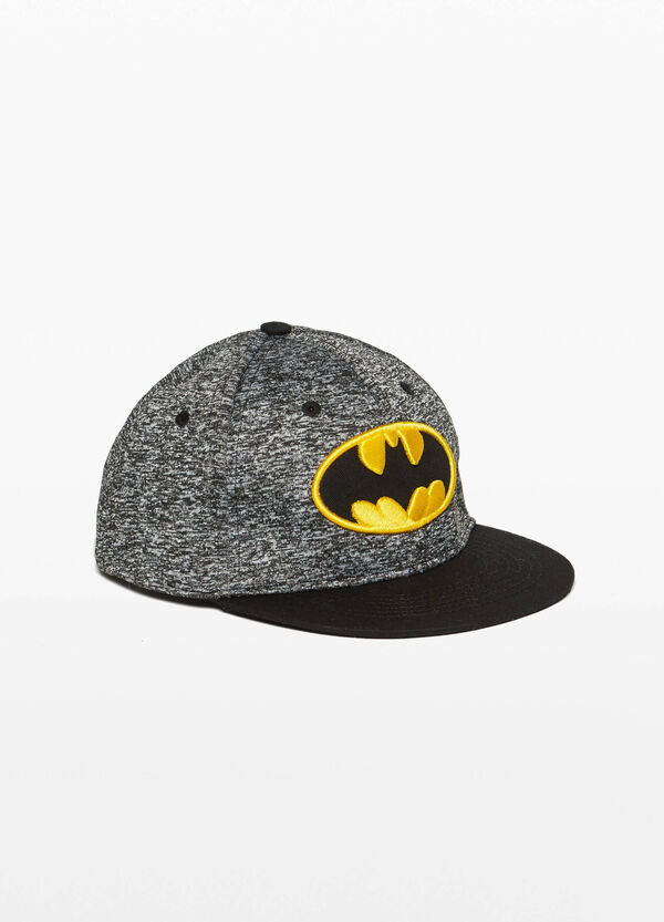 Baseball cap with Batman print