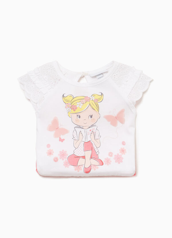 100% cotton romper suit with two-tone print