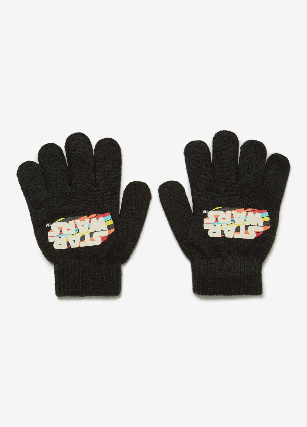 Gloves with Star Wars print