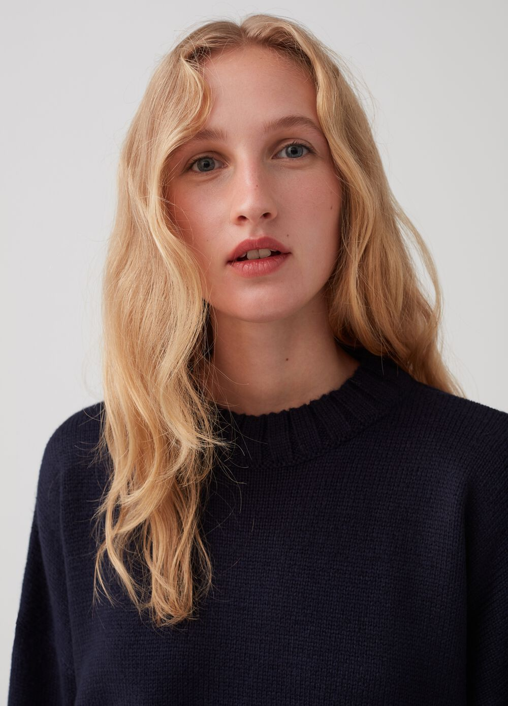 Essential Capsule pullover with knitted design