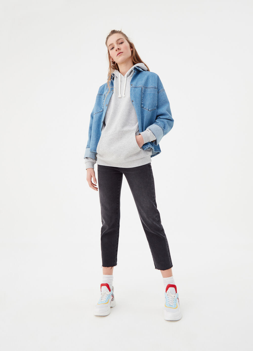Straight-fit comfort jeans in authentic denim