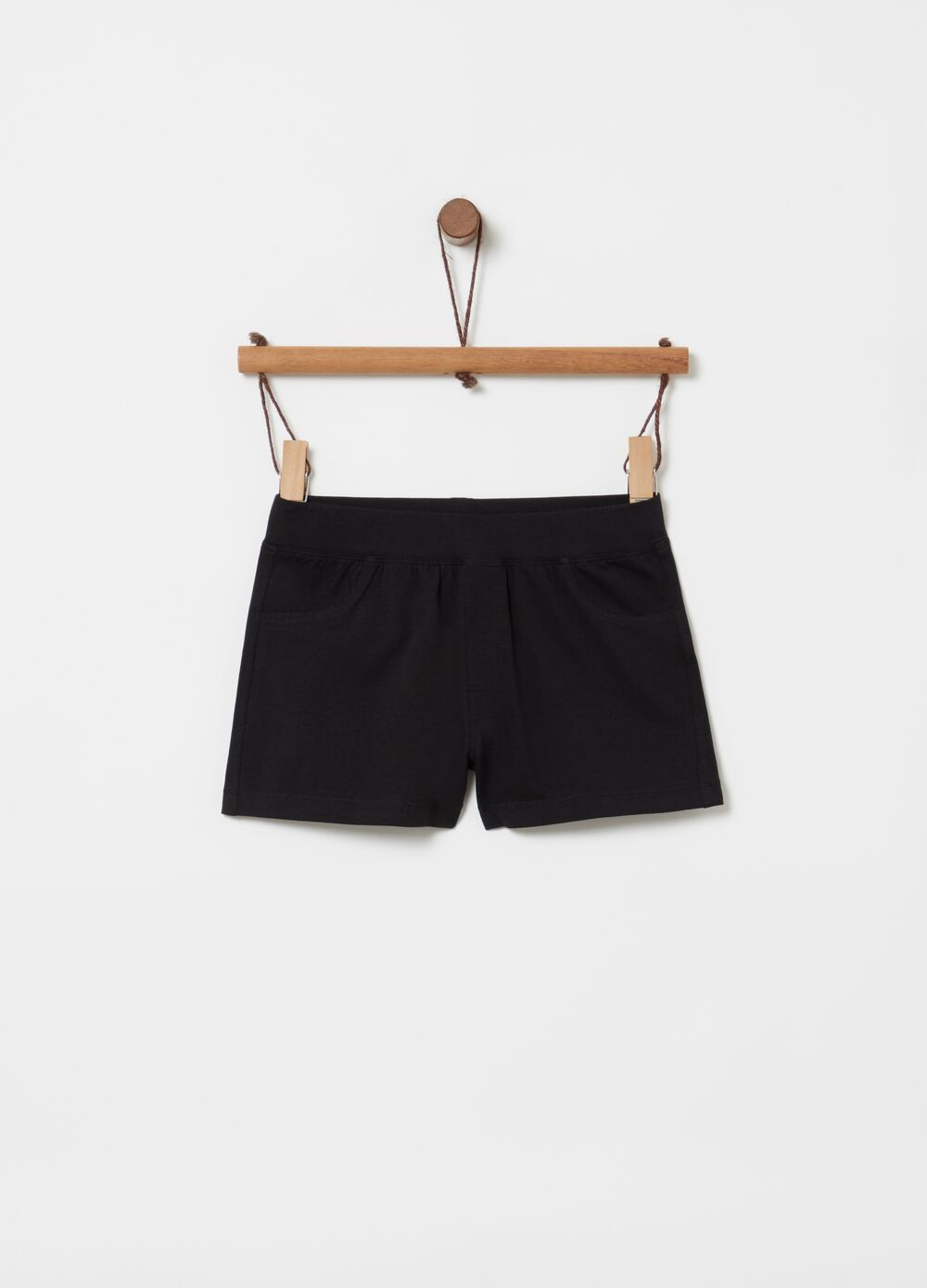 Shorts in stretch cotton with elasticated waist