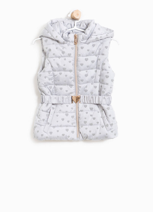 Padded gilet with hearts hood | OVS