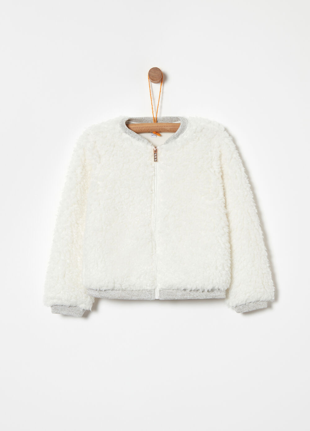 Lined sweatshirt in soft fur fleece