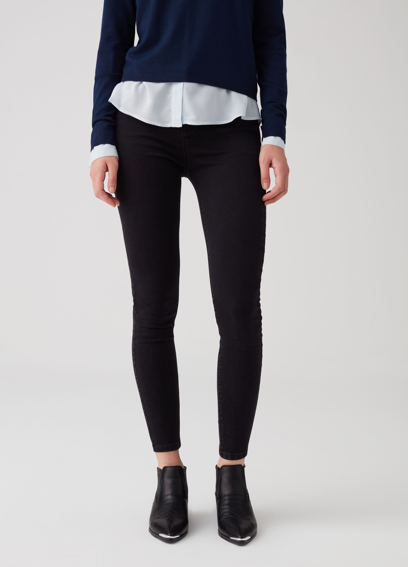 Push-up jeans with soft-touch cotton image number null