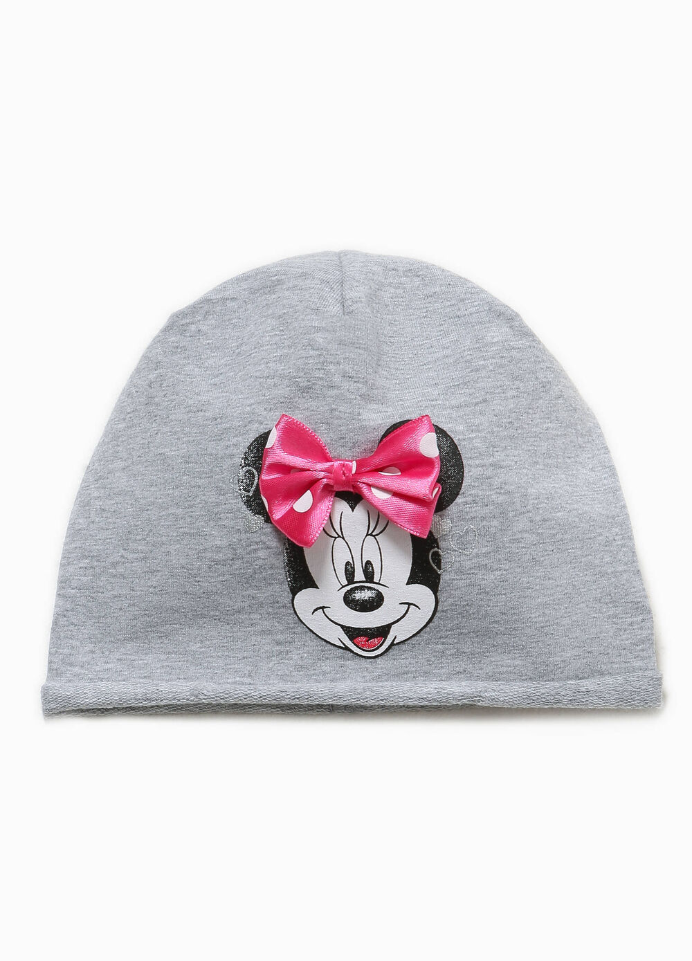 Beanie cap with Minnie Mouse print and bow