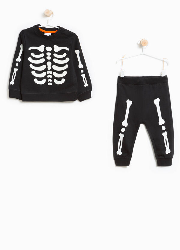 100% cotton tracksuit with skeleton print