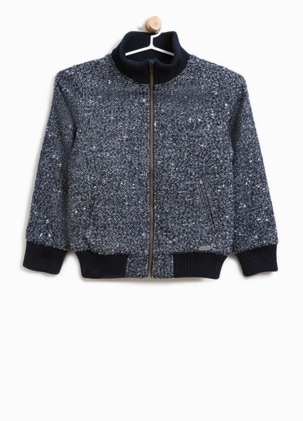 Bomber jacket with herringbone pattern | OVS