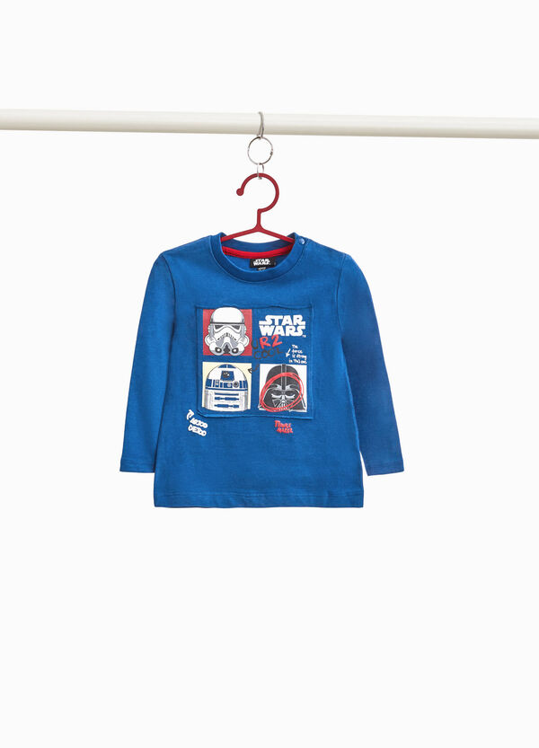 100% cotton T-shirt with Star Wars patch
