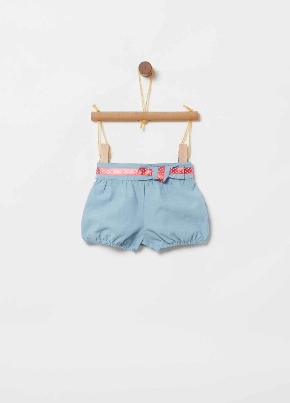 ***Better Cotton Initiative trousers in chambray sash