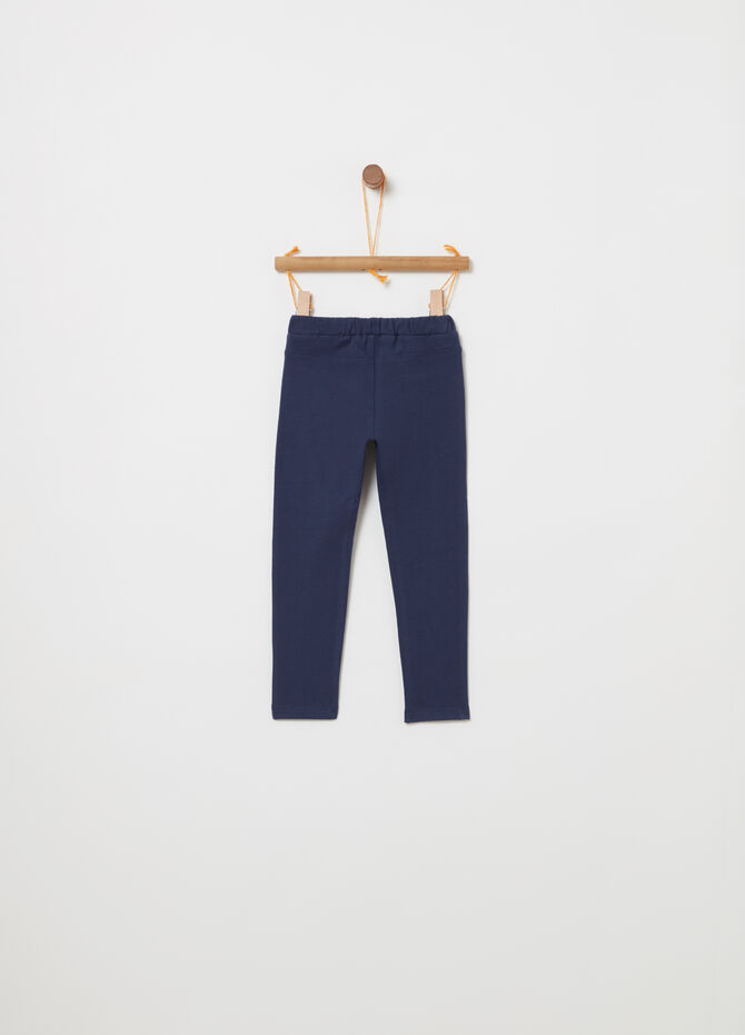 Lightweight non-brushed fleece trousers