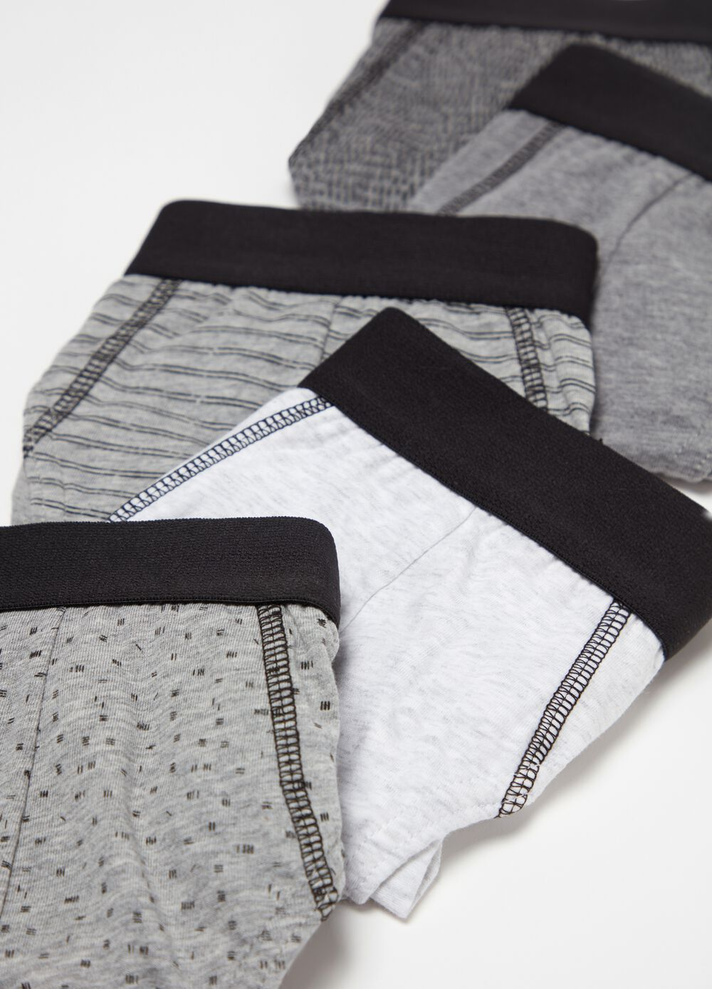 Five-pack patterned briefs
