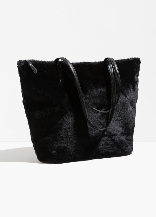 Faux fur shopping bag | OVS