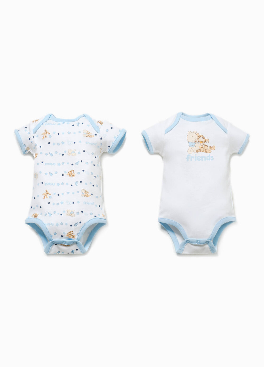 Two-pack Winnie the Pooh patterned bodysuits