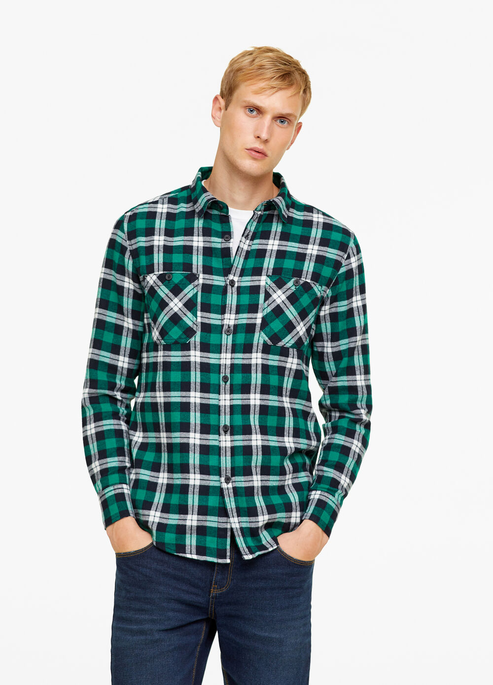100% cotton shirt with two pockets