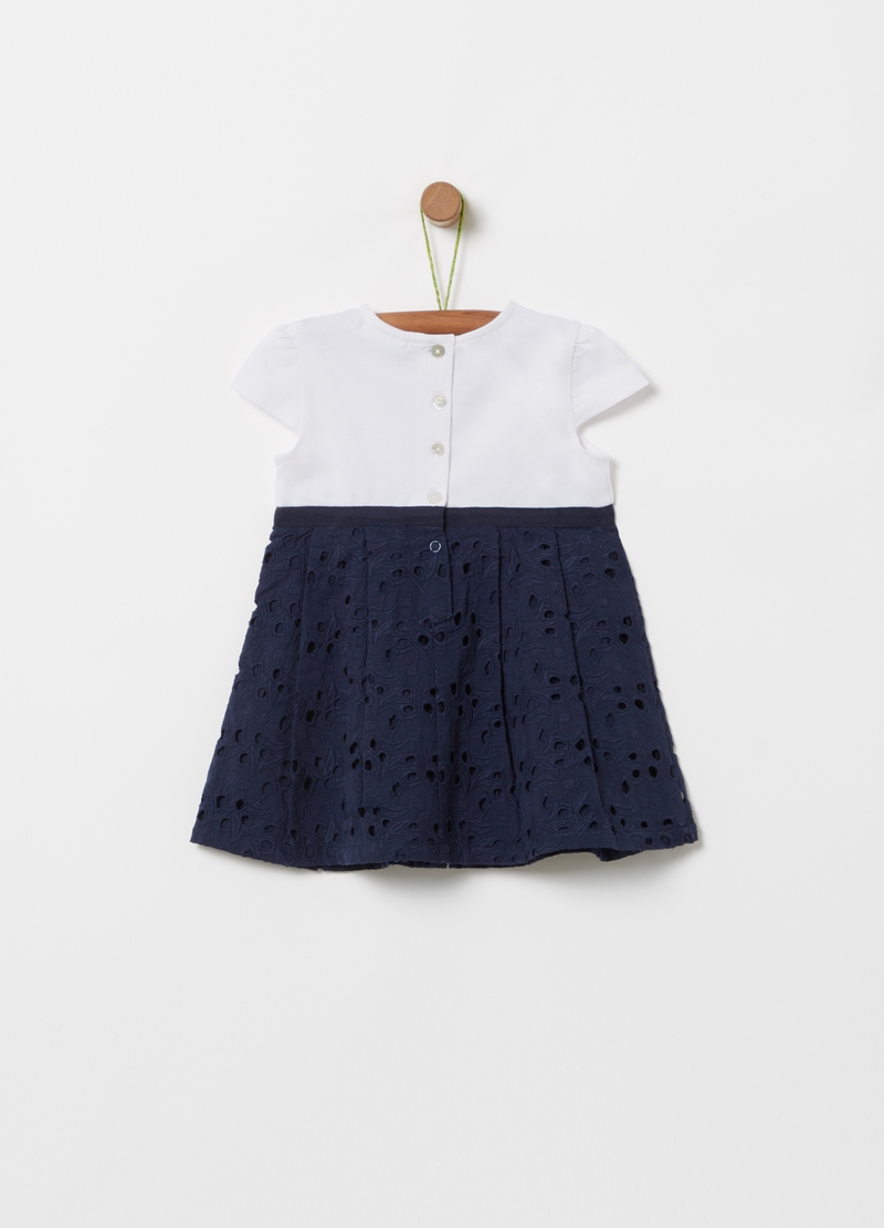 Two-tone dress with daisy image number null