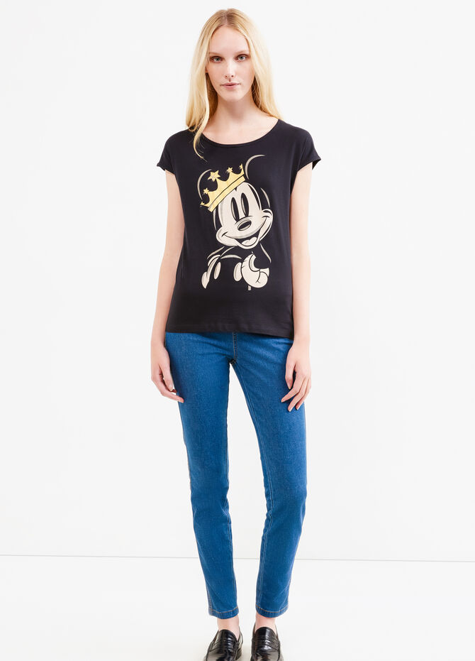 Mickey Mouse print cotton T-shirt