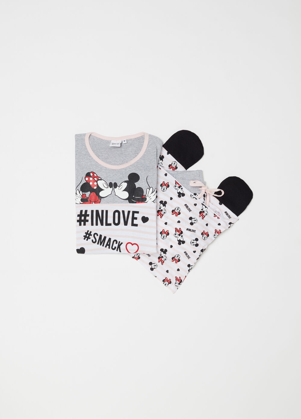 Pigiama Disney love Minnie e Topolino
