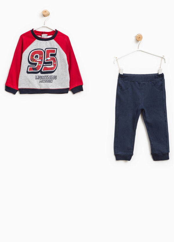 Cotton tracksuit with Cars print