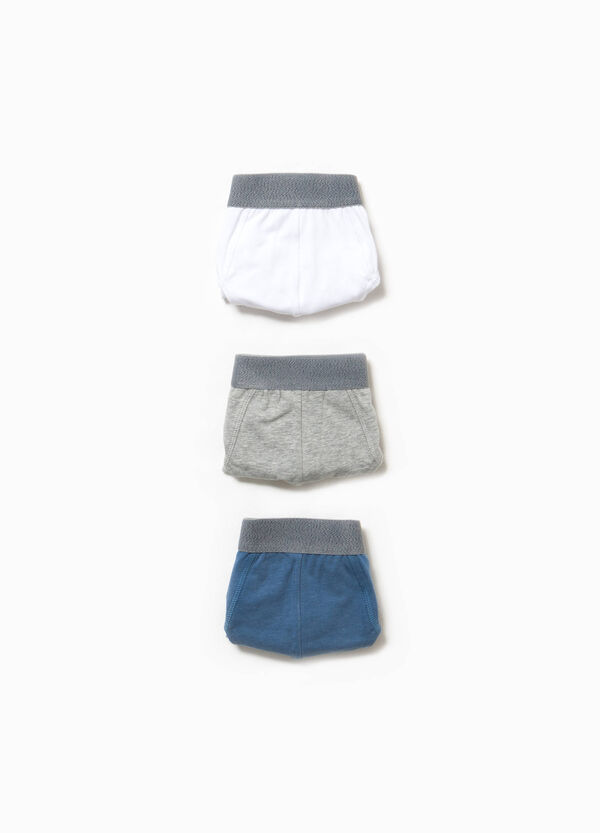 Three-pack stretch cotton briefs