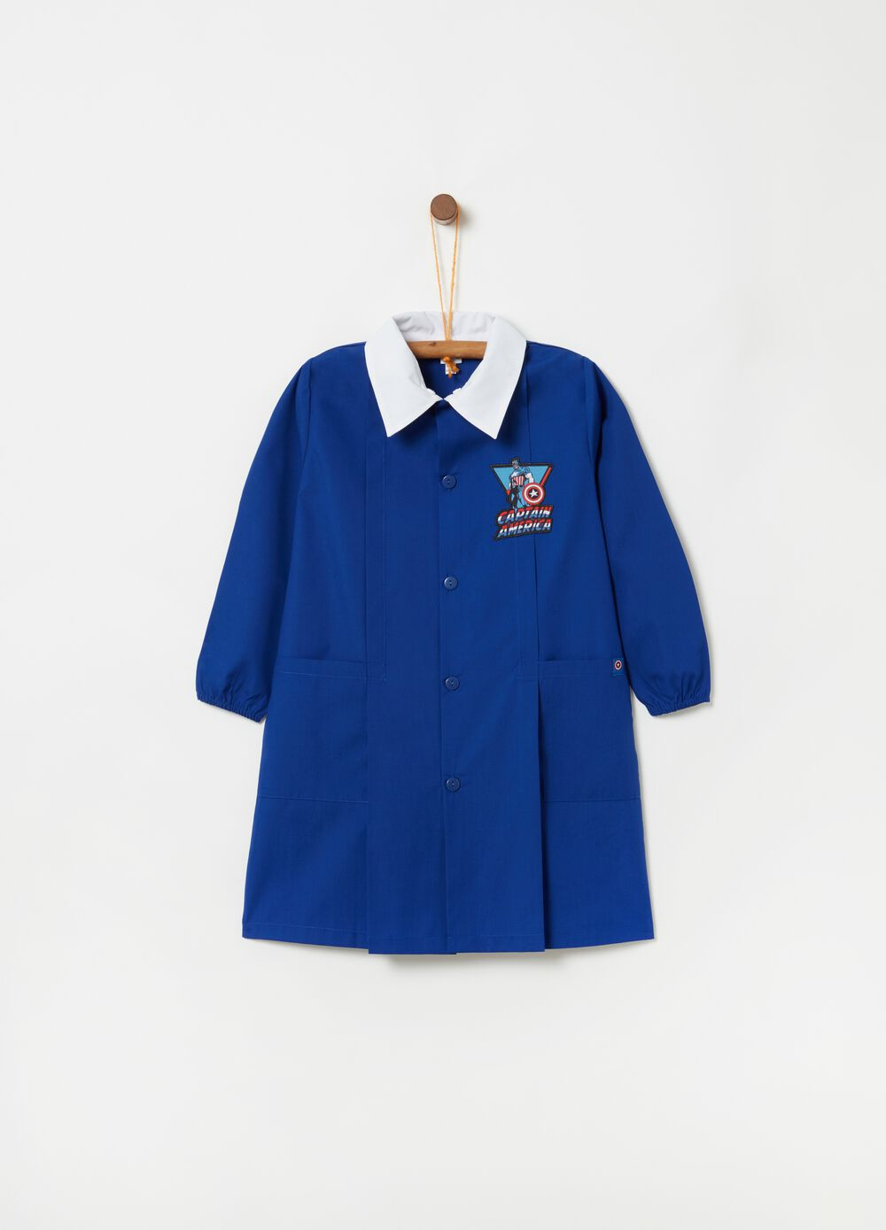 Smock with Captain America patch