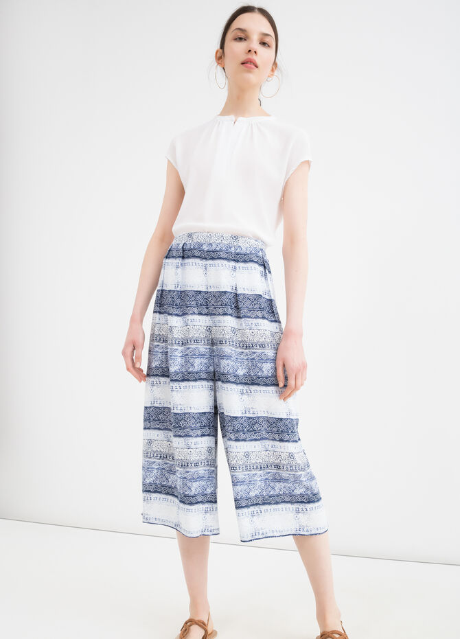 Gaucho pants in 100% viscose