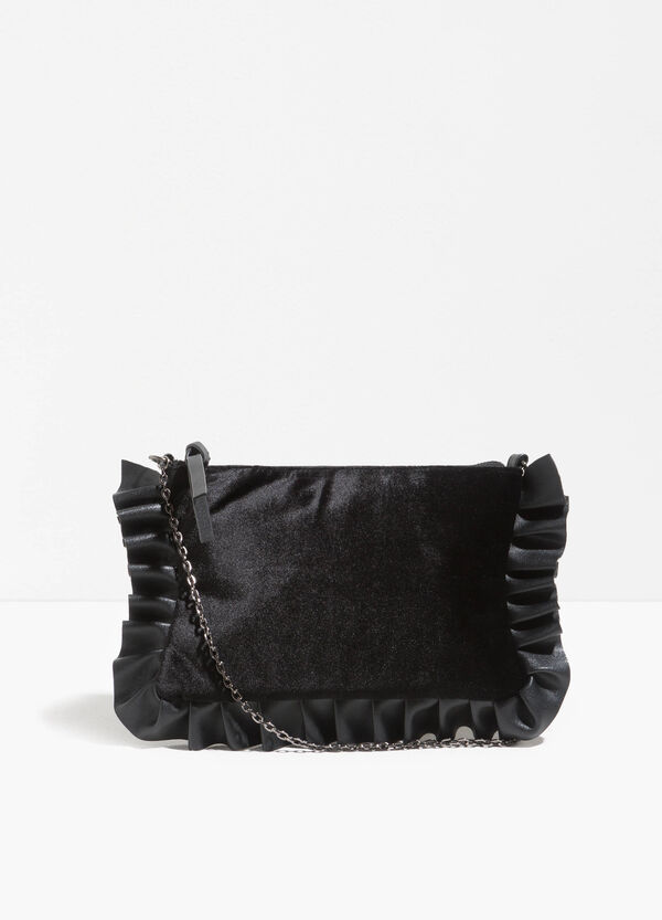 Clutch bag with strap and flounces | OVS