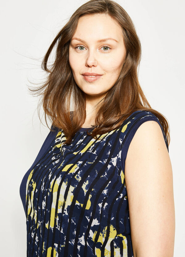 Curvy blouse with print in viscose   OVS