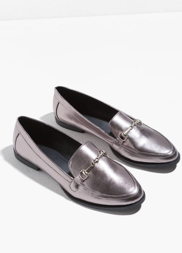 Loafers with metal insert | OVS