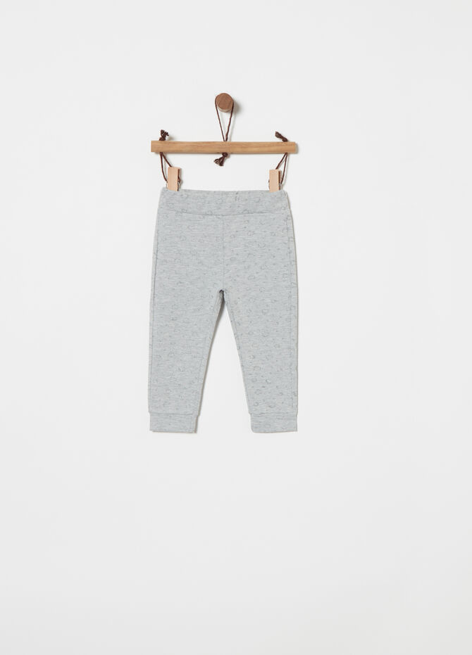 Warm trousers with pattern