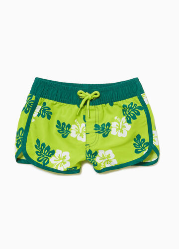 Floral patterned beach shorts