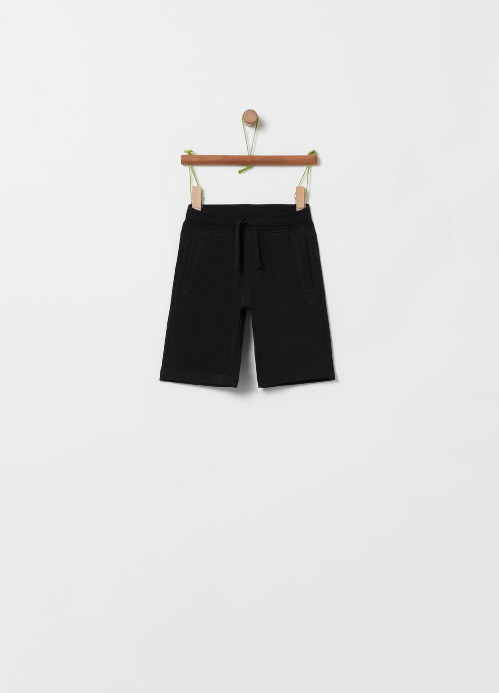 French terry organic cotton shorts