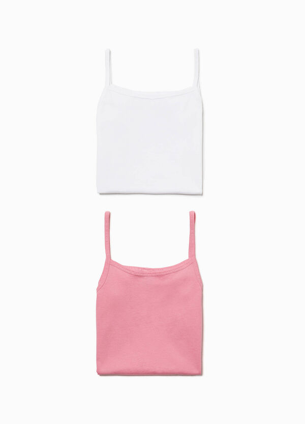 Two-pack 100% cotton under tops
