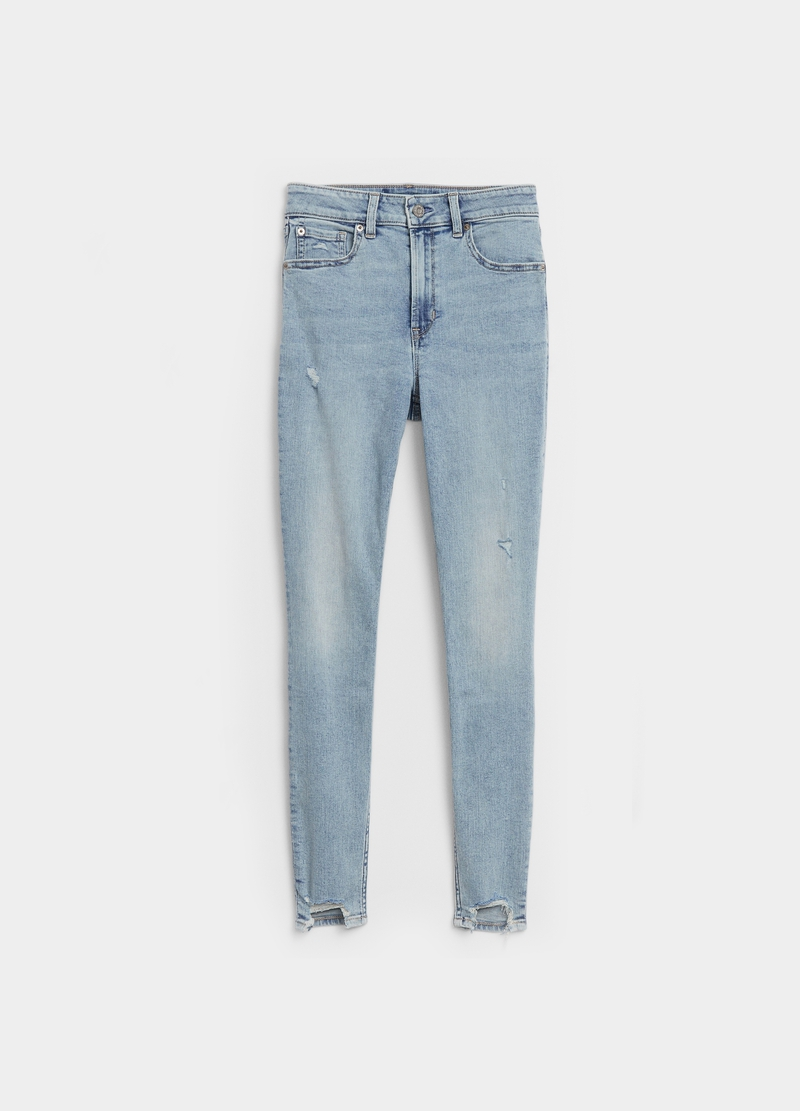 GAP stretch jeggings with abrasions image number null